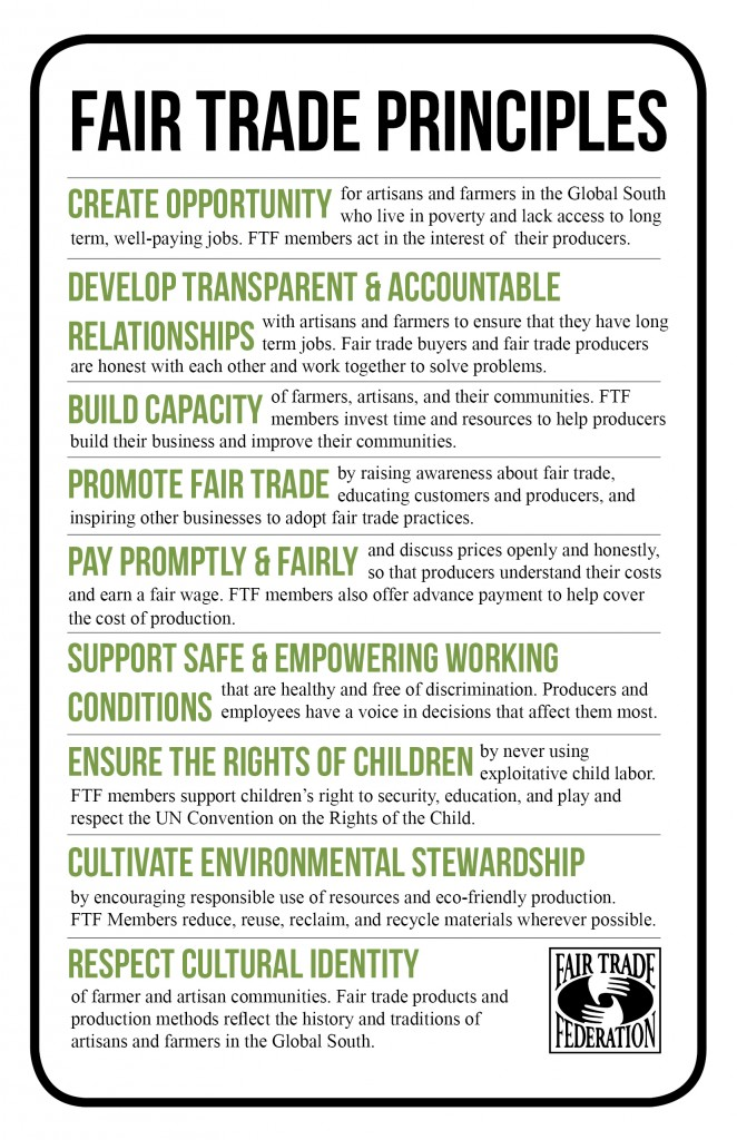 Fair Trade Principles small flyer