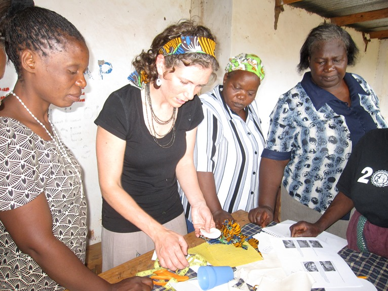 Marissa working with local artisans in Malawi