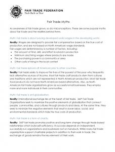 Fair Trade Myths