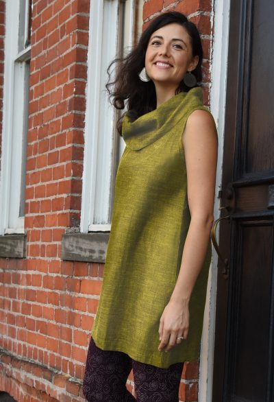 Maggie's Organics - PRODUCT 1_SS19 CowlTunic PEAR